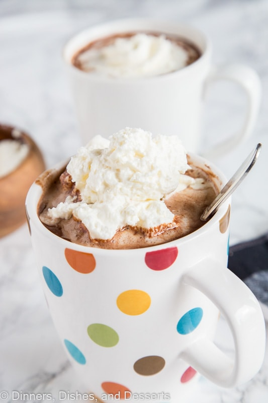 A cup hot chocolate, with Chocolate and Hot chocolate
