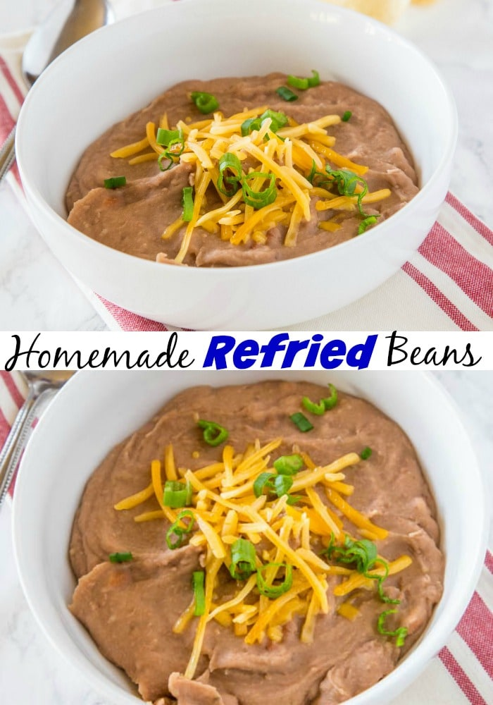 Homemade Refried Beans - these beans are so simple to make, they have just a few ingredients, take about 20 minutes and are so much better than the canned version!