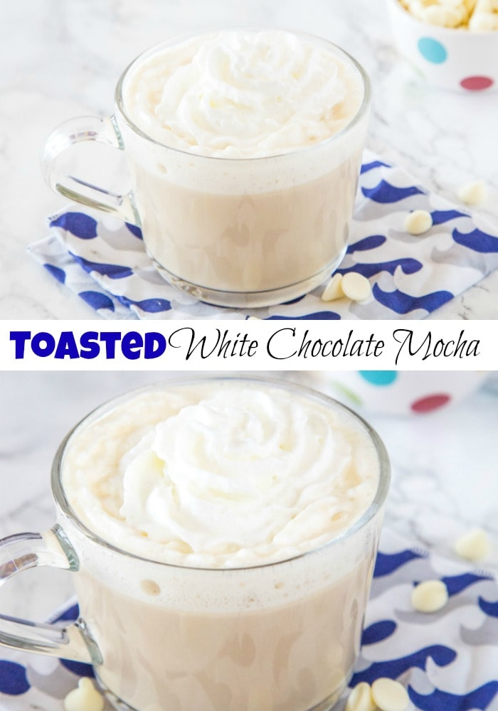 Toasted White Chocolate Mocha - Skip the line and the trip to the coffee shop and make your favorite mocha at home in a few simple steps!