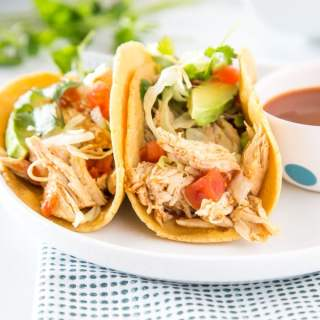 chicken tacos on a plate
