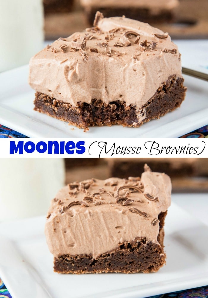 Moonies Collage - bite on top, full slice on bottom