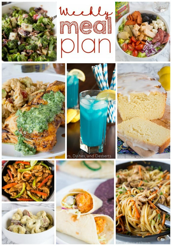 Meal plan pinterest collage