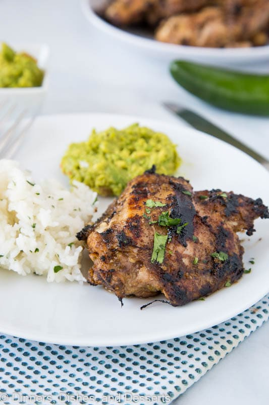 jerk chicken recipe plated