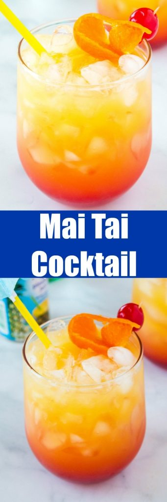 Mai Tai Drink - get all the taste of the tropics with this fruity and refreshing cocktail!