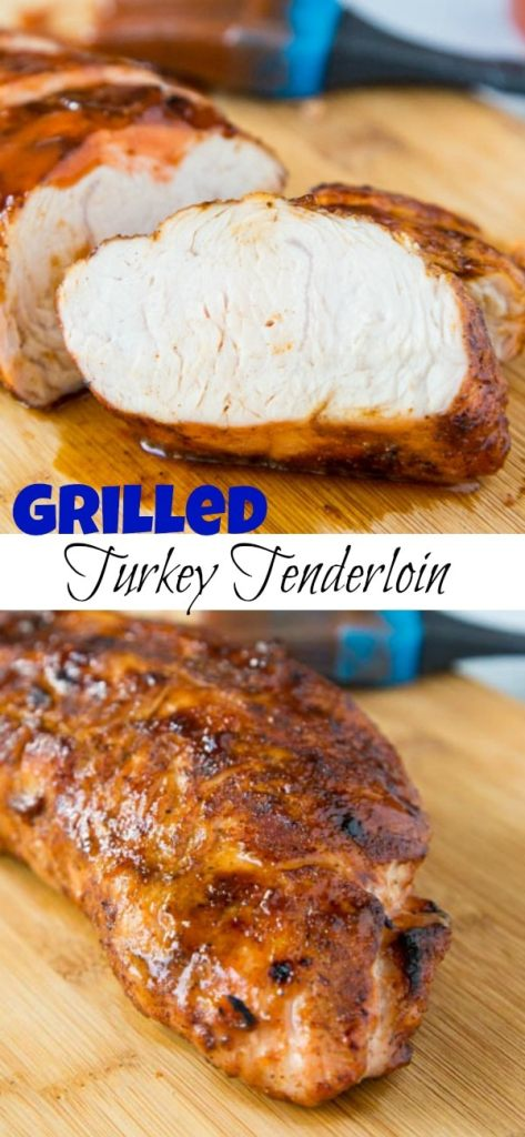 Barbecue Turkey Tenderloin - Grilled turkey tenderloin seasoned with a smoky rub and grilled to perfection. Coated in your favorite barbecue sauce for the perfect summer meal.