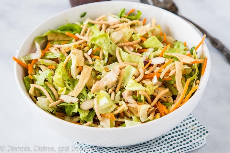 Oriental Chicken salad with all your favorite mix ins