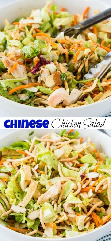 Chinese Chicken Salad - a quick and easy rotisserie chicken salad with an Asian dressing and lots of crunchy delicious mix-ins!