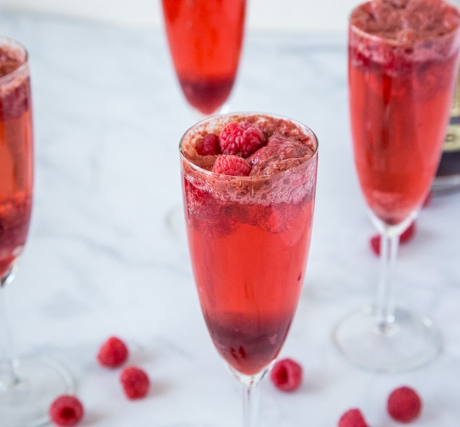 Raspberry Mimosas
