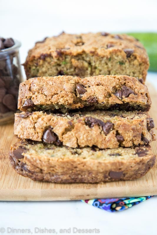 Chocolate Chip Zucchini Bread full of cinnamon and nutmeg