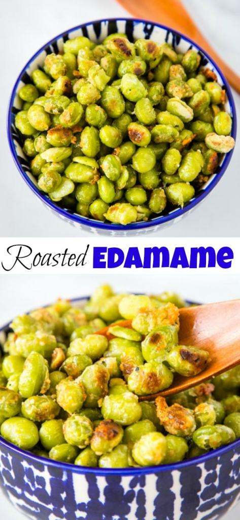 A plate full of edamame