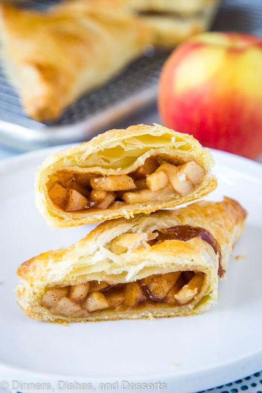 Puff pastry and homemade apple pie filling makes for a delicious fall treat