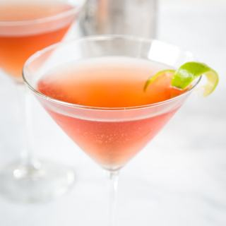 A close up of a  cosmo cocktail