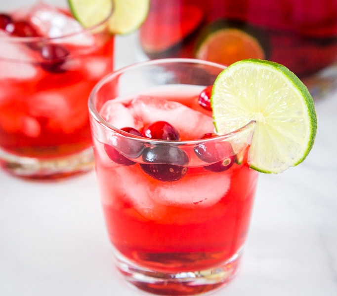 Holiday Punch can be boozy or not and perfect for holiday parties