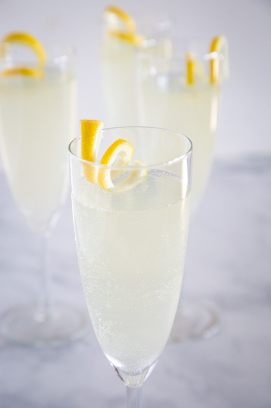 Sweet, citrus-y and delicious French 75 cocktail
