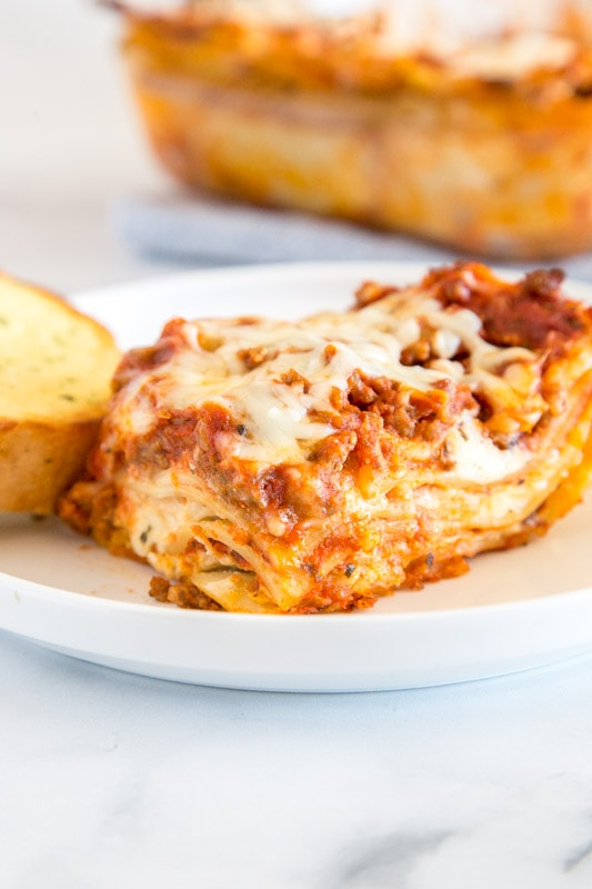 Easy Homemade lasagna you can make ahead and freezer for busy nights
