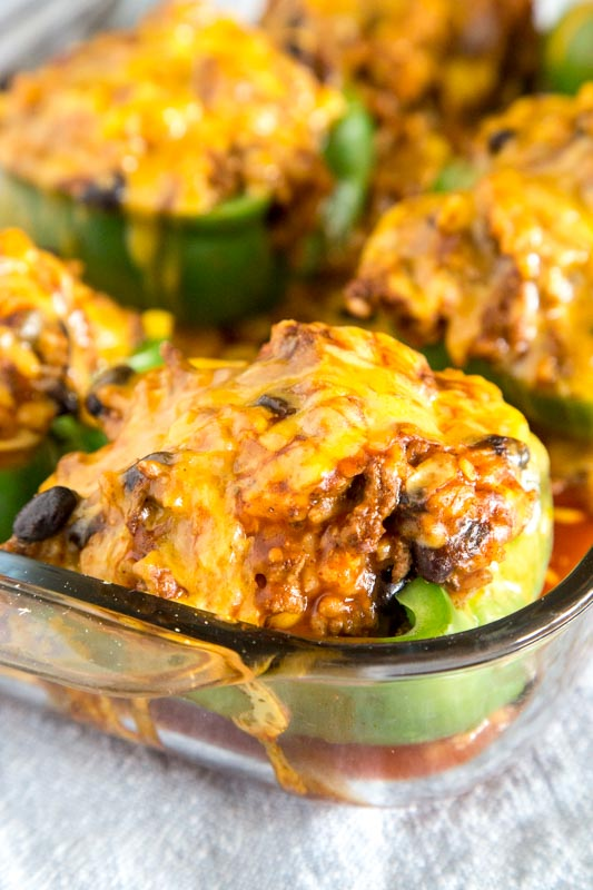 Taco night just got better! These stuffed peppers are filled with all your Mexican favorites