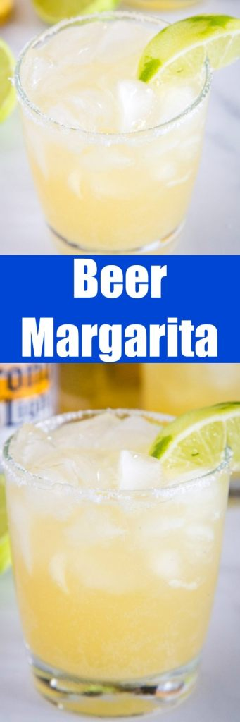 Beer Margarita Recipe - this easy cocktail is made from limeade, tequila and beer for a refreshing and fun drink you can enjoy anytime!