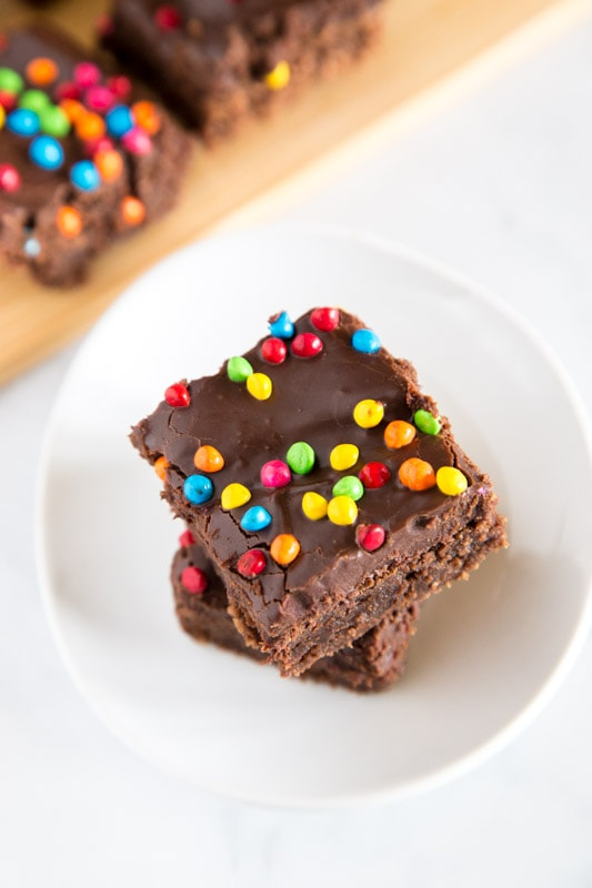 Little Debbie Cosmic Brownies made at home