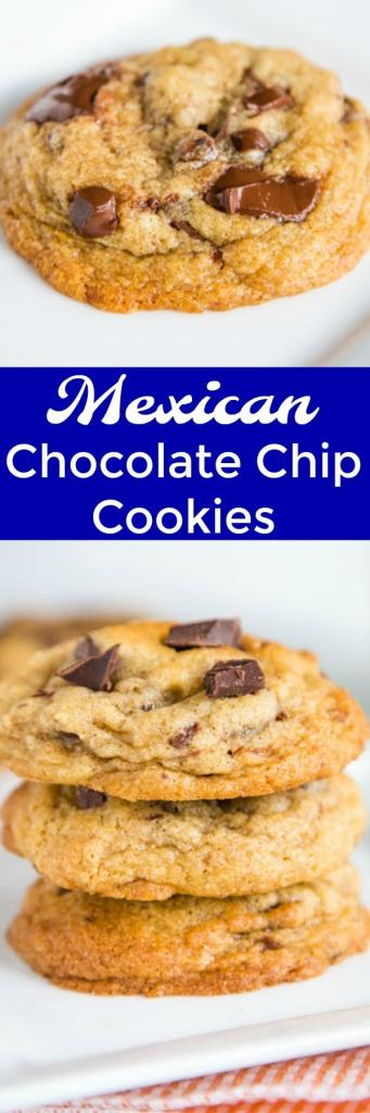 Mexican Chocolate Chip Cookies - soft and chew chocolate chip cookies that have a little something extra from the cinnamon and cayenne pepper. People are going to be asking for this recipe over and over again!