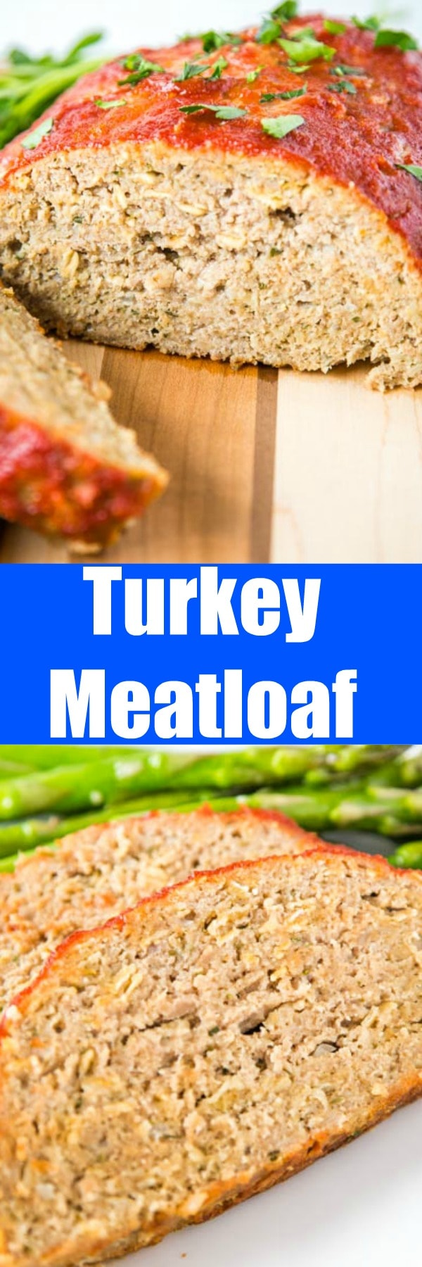 Easy Turkey Meatloaf - Use ground turkey to make this flavorful, moist, tender and delicious turkey meatloaf recipe. Great comfort food that is healthy and tasty!