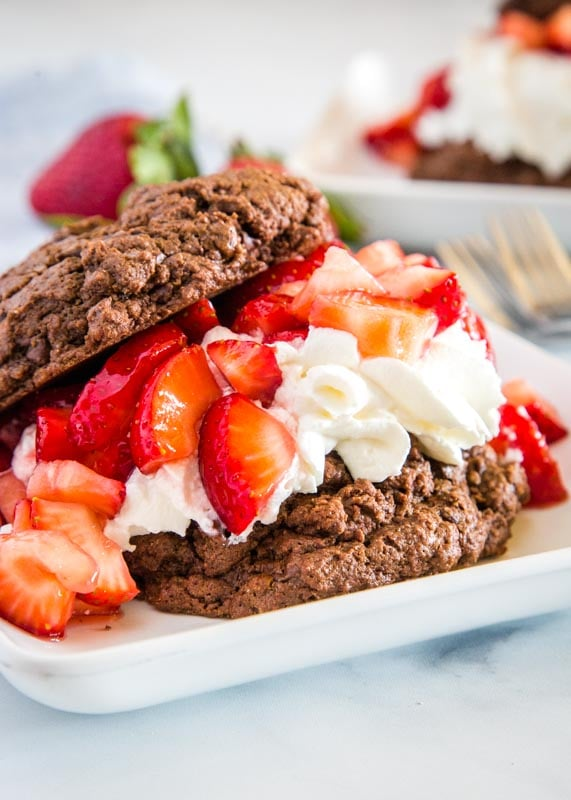 Chocolate strawberry shortcake is a an over the top version chocolate lovers will go crazy for!