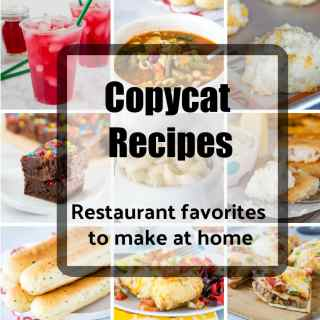Copycat Recipes - whether you are trying to save money or just don't want to go out, here are some of my favorite homemade versions of famous restaurant recipes.