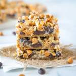 Magic Cookie Bars - These bars come together in one pan and are so easy to make.  Layers of graham crackers, chocolate, butterscotch, coconut, nuts and sweetened condensed milk.