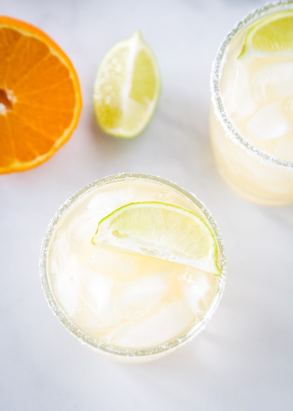 Zero guilt with a skinny margarita that is light and refreshing