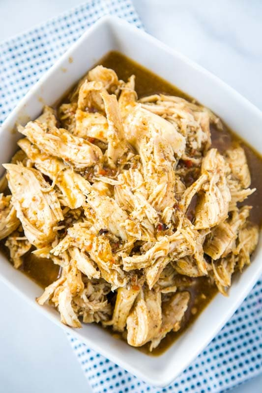Homemade cafe rio shredded chicken