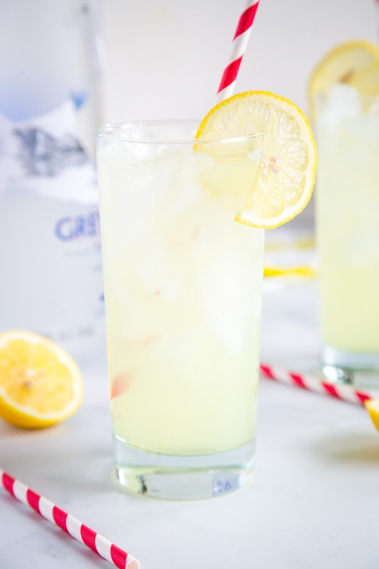 Lemonade and vodka cocktail