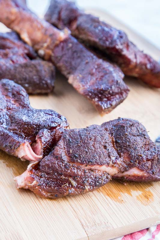 country style ribs on cutting board