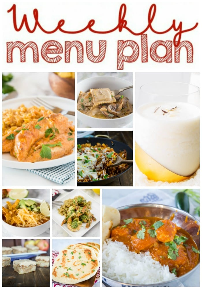 meal plan collage with meals for the week