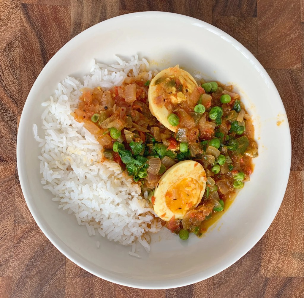 hard boiled eggs curry from Cooking with Manali