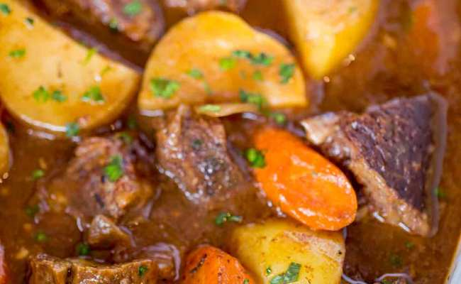 Ultimate Slow Cooker Beef Stew Dinner Then Dessert