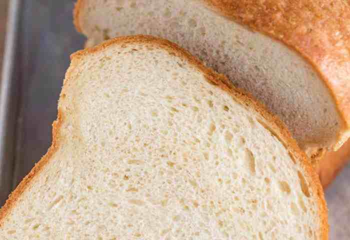 White Bread Dinner Then Dessert
