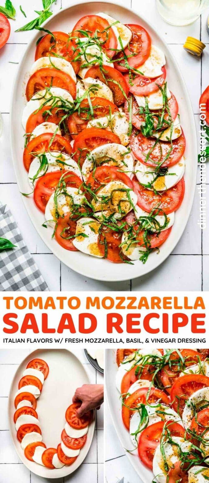 Tomato Mozzarella Salad collage