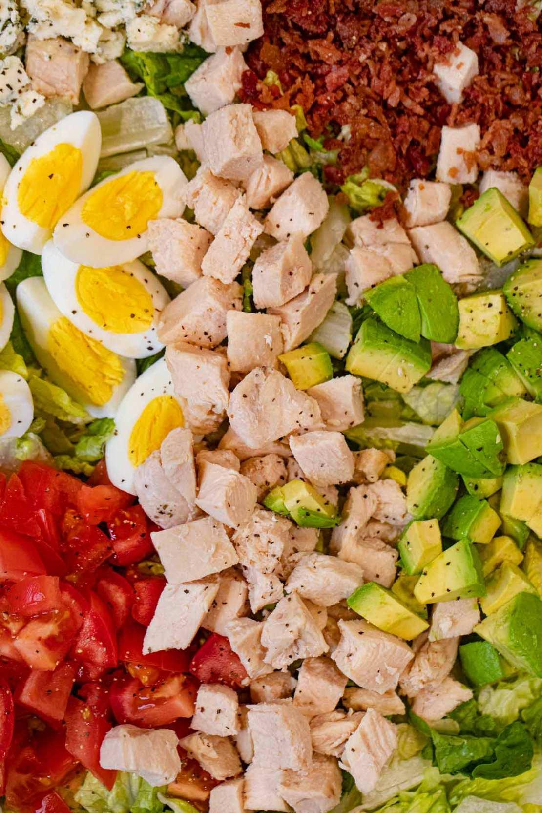 close-up of Cobb Salad