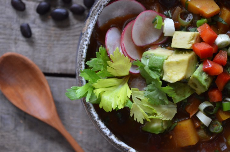 Black Bean and Butternut Squash Chili with Chipotle