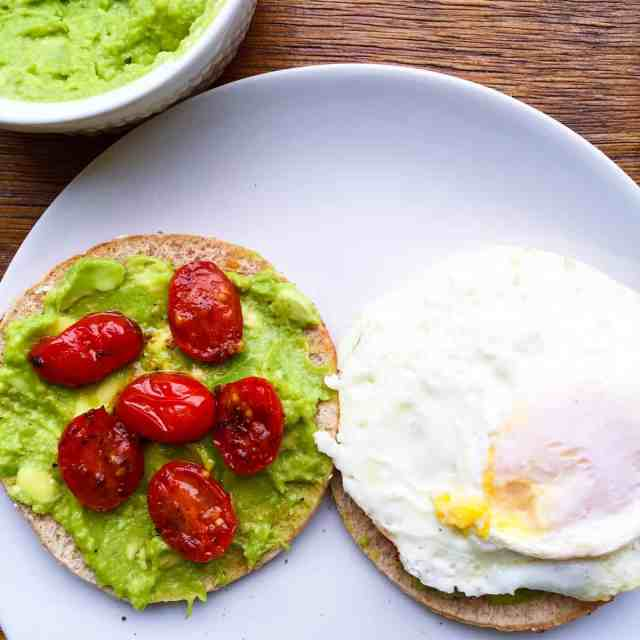 Toasted Honey Wheat Flatbread with Avocados