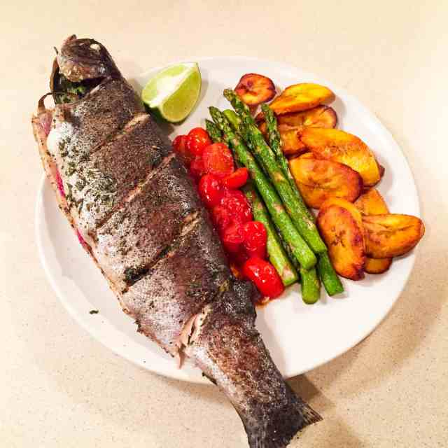 Baked Whole Rainbow Trout