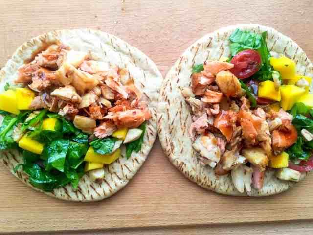 Seafood Pita Bread Sandwich