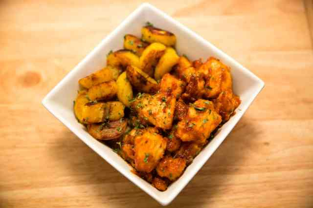 Orange Chicken Plantain Bowl