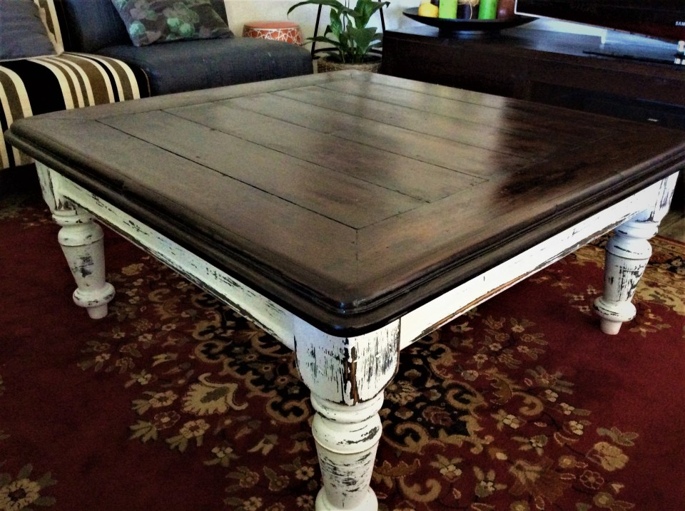 Coffee Table Refresh Dinns D Lites - How To Stain And Seal Coffee Table