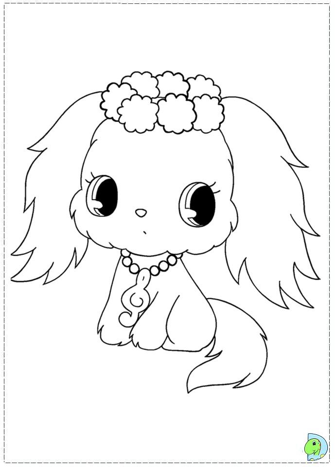 Jewelpet Coloring page- DinoKids.org
