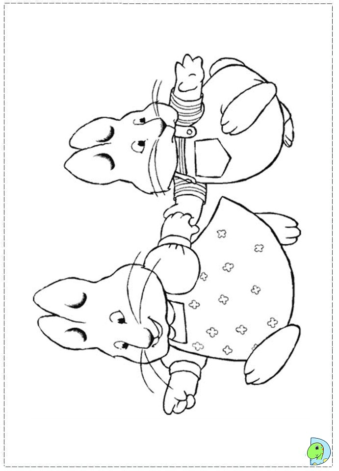 Max and Ruby Coloring page- DinoKids.org