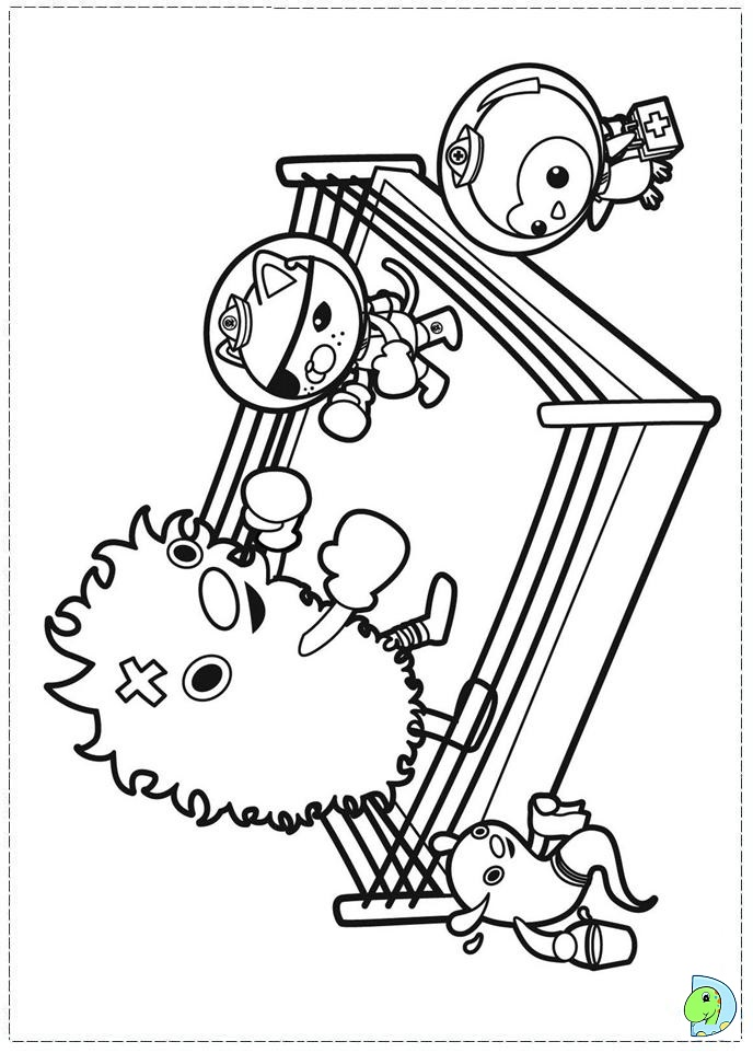 Free coloring pages of octonaut gup