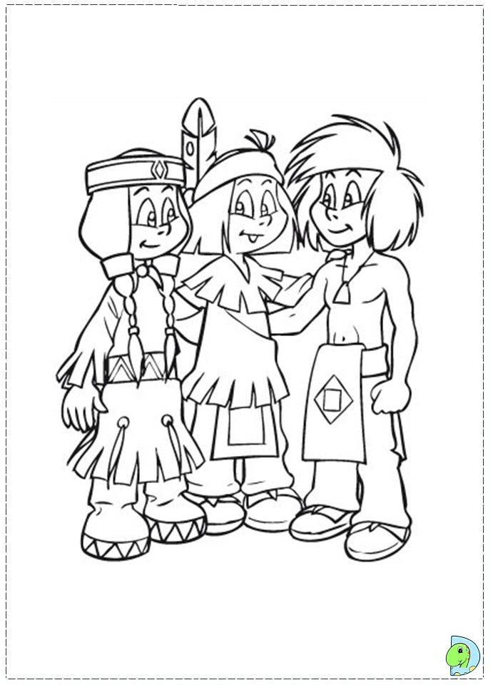 Yakari Coloring page- DinoKidsorg