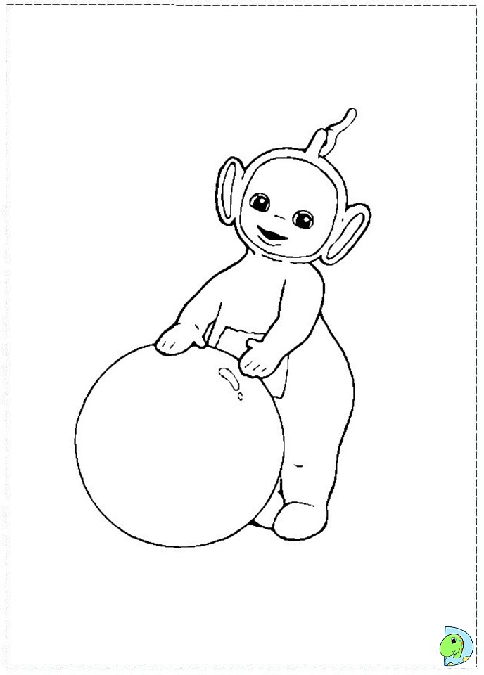 Lala Teletubbies Coloring Pages Coloring Pages
