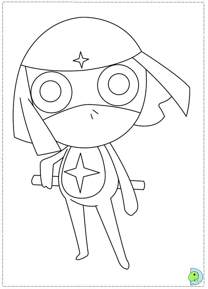 Keroro Coloring page- DinoKids.org