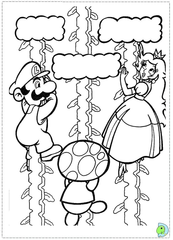 Free super mario bros coloring pages